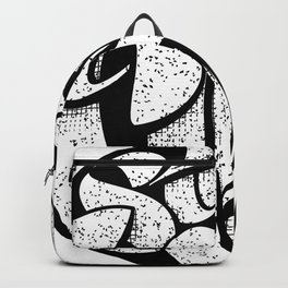 Stay Close Lettering Blk Backpack