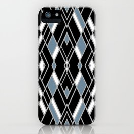 Art Deco Zoom Blue iPhone Case