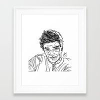 liam payne Framed Art Prints featuring Liam Payne by Hollie B