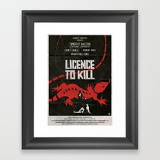 LICENCE TO KILL Framed Art Print