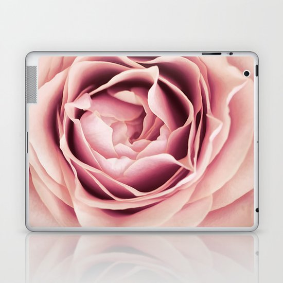 My Heart is Safe with You, My Friend - pale pink rose macro Laptop & iPad Skin