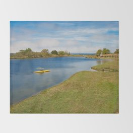 Assateague Island Marsh Throw Blanket