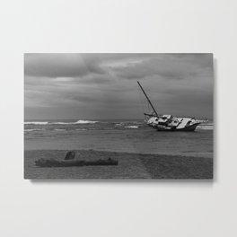 sunken boat Metal Print