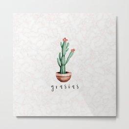 grasias / MARBLE x CACTUS Metal Print