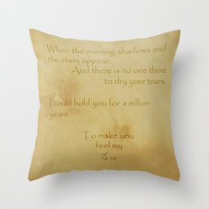 Make You Feel My Love Throw Pillow