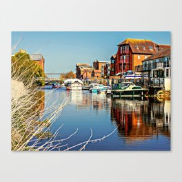 At the riverside. Canvas Print
