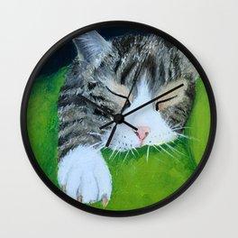 Cat Nap (Lucia) Wall Clock