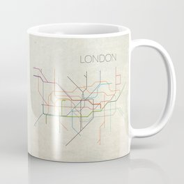 Minimal London Subway Map Coffee Mug