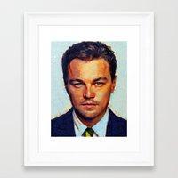 leonardo dicaprio Framed Art Prints featuring Leonardo DiCaprio II by Nick Arte