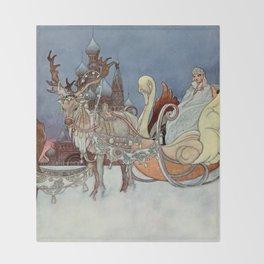 """The Happy Princess"" Fairy Art by Charles Robinson Throw Blanket"