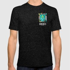 Hero of Time Tri-Black Mens Fitted Tee SMALL