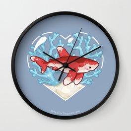 PECK the Whitetip Reef Shark Wall Clock