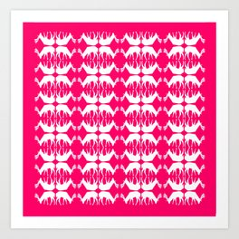 Oh, deer! in hot pink Art Print