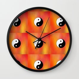 Yin and Yang 5 - Tao,Zen,Taoism,Dao,Harmony,religion,buddhism,buddhist,taijitu,taiji,taoist,china Wall Clock