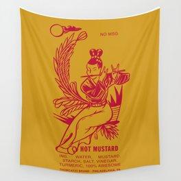 Hot Mustard Wall Tapestry