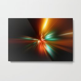 abstract acceleration speed motion on night road Metal Print