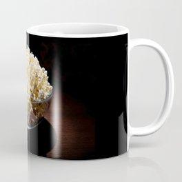crunchy popcorn in glass bowl Coffee Mug