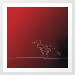 Paisley Bird Art Print