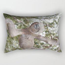 Sloth, A Real Tree Hugger Rectangular Pillow