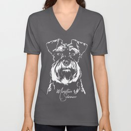 Miniature Schnauzer Dog Unisex V-Neck