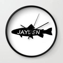 Jayden Fish Wall Clock