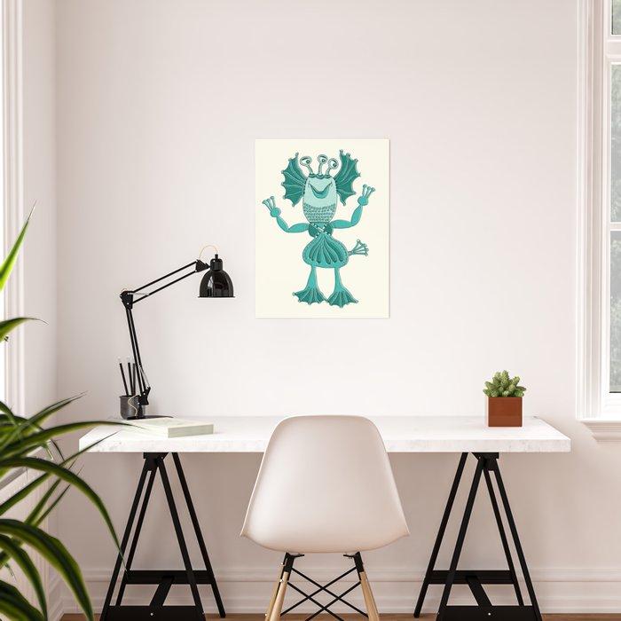 Robot Alien Monster No 282 Poster