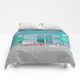 No Vacancy Comforters