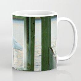 Egret Keeping Watch Coffee Mug
