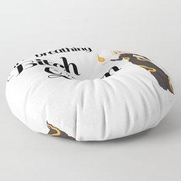 Fire-Breathing Bitch Queen Floor Pillow