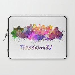 Thessaloniki skyline in watercolor Laptop Sleeve