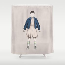Eleven without a face (Stranger T.) Shower Curtain