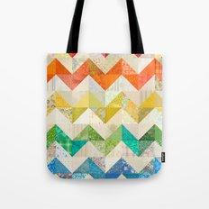 Chevron Rainbow Quilt Tote Bag