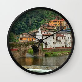 Stone Bridge Asturias Spain Wall Clock