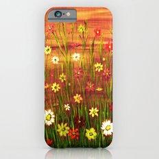 Flowers in the sunrise iPhone 6s Slim Case