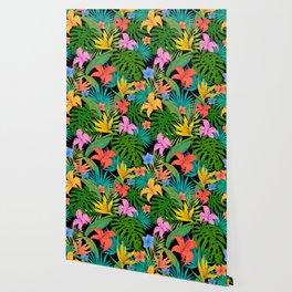 tropical greens leaves Wallpaper