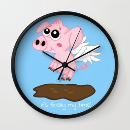 When Pigs Fly in the Year of the Pig Wall Clock