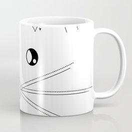 Minimalist Cat Coffee Mug