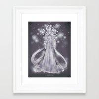valar morghulis Framed Art Prints featuring Varda, valar of light by ScottyTheCat