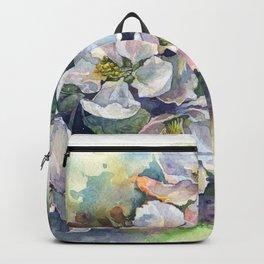 Watercolor bloom apple flowers Backpack
