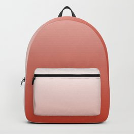 White, pink, coral gradient, Ombre. Backpack