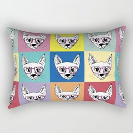 geek cool cat Rectangular Pillow
