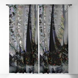 Frost in forest - Abstract illusion Blackout Curtain