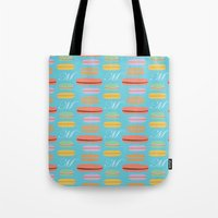 macaron Tote Bags featuring Macaron by Ashley C. Kochiss