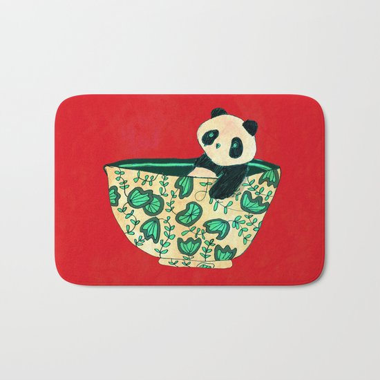 Dinnerware sets - panda in a bowl Bath Mat