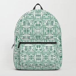 Emerald art deco doodle Backpack