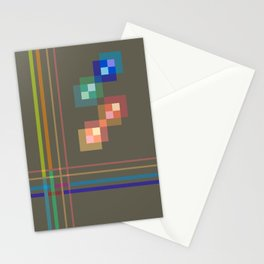 Squares and Lines Stationery Cards