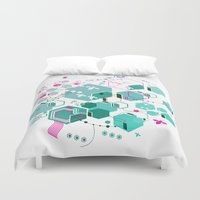 bees Duvet Covers featuring Bees by rudziox