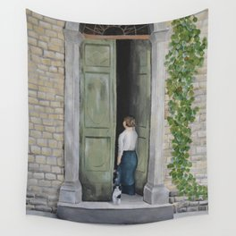 Going In and Out Wall Tapestry