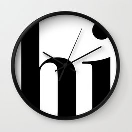 Hi Typography Wall Clock