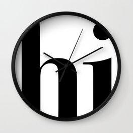 Hi Typography Wall Clock